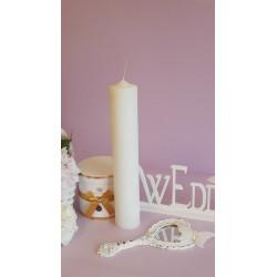 Candel White Pillar 40x7cm
