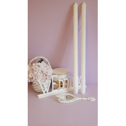 White Candle 68x3cm
