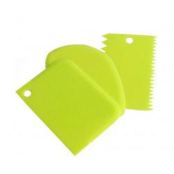 Set 3 scrapers light green