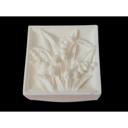 Square silicone mold with...