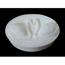 """Silicone mold """"Swans in love"""""""