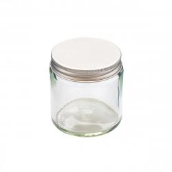 Transparent glass jar 120 ml