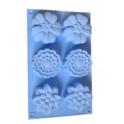 FLOWER soap form with 6...