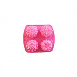 Soap shape Flowers, 4 cavities