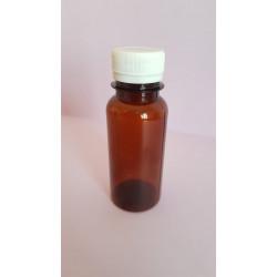 Brown plastic bottle 100ml