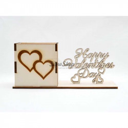 Wooden set with box and...