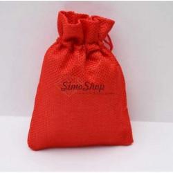 Red jute bag 10 x 13cm
