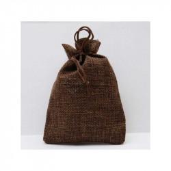 Brown jute bag 10 x 13cm