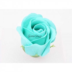 Turquoise Soap Rose 5 cm