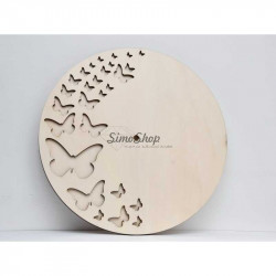 Wooden clock dial with 30cm...
