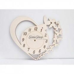Dial wooden clock Heart...