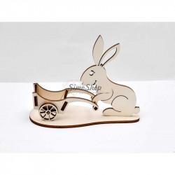 Rabbit with wheelbarrow for...
