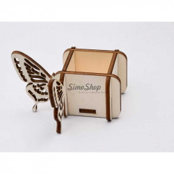 Wooden box with butterfly...