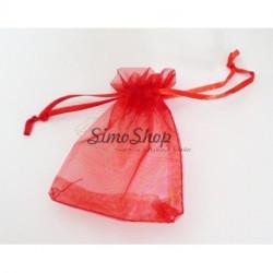 Red organza bag 23x18cm