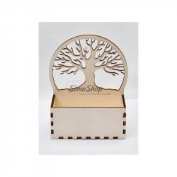 Wooden envelope or flower...